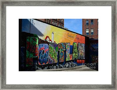 Framed Print featuring the photograph Portland by Paul Noble