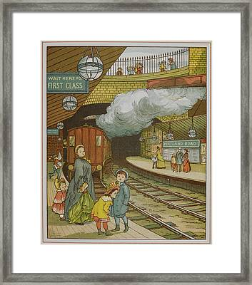 Portland Road Underground Station Framed Print by British Library