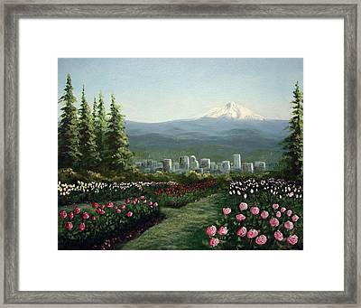 Portland Rose Garden Framed Print