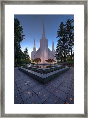 Portland Temple Framed Print by Dustin  LeFevre