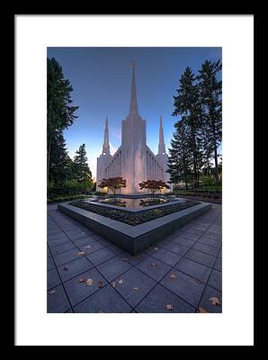 Portland Temple Photographs Framed Prints