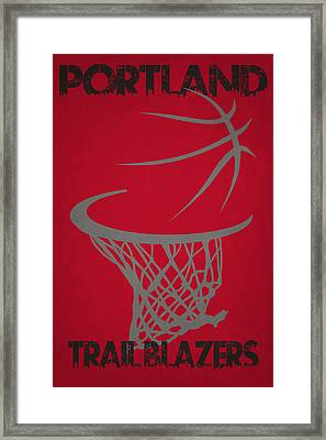 Portland Trail Blazers Hoop Framed Print by Joe Hamilton