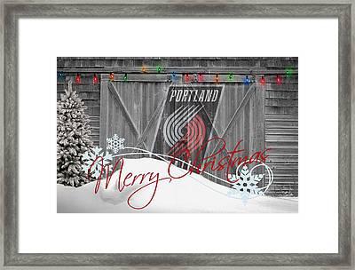 Portland Trailblazers Framed Print by Joe Hamilton