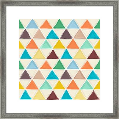Portland Triangles Framed Print by Sharon Turner