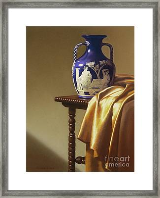 Portland Vase With Cloth Framed Print