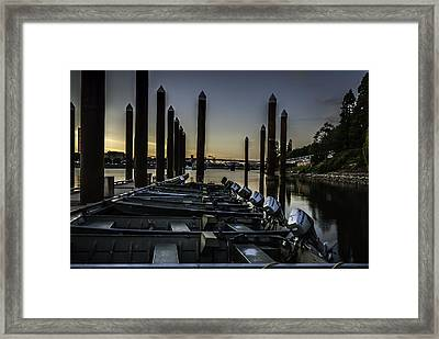 Portland Waterfront Framed Print by Jean-Jacques Thebault