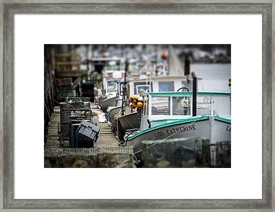 Portland Working Waterfront Framed Print