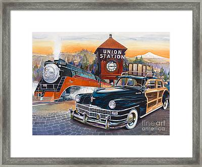 Portland's Union Station Framed Print by Mike Hill