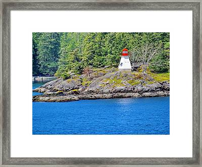 Portlock Point Lighthouse In British Columbia Framed Print