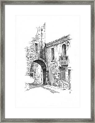 Framed Print featuring the drawing Portmerion by Paul Davenport