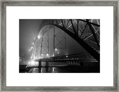 Porto @ Night Fog Framed Print