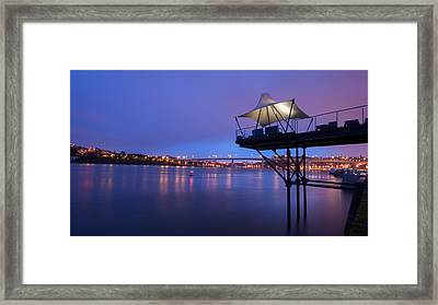 Porto @ Night With A Touch Of Long Exposure Framed Print