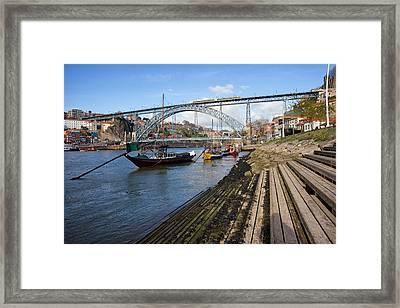 Porto And Vila Nova De Gaia Cityscape Framed Print