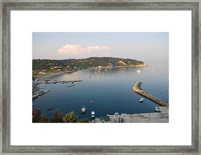 Framed Print featuring the photograph Porto Bay by George Katechis