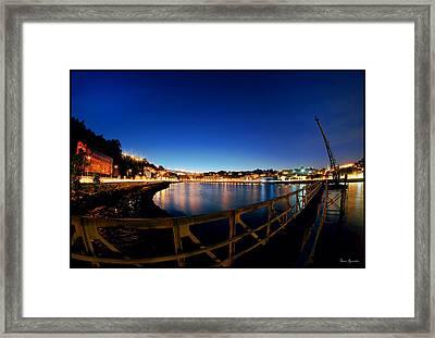 Porto By Night. Framed Print