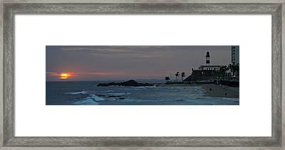 Porto Da Barra Beach With Forte De Framed Print