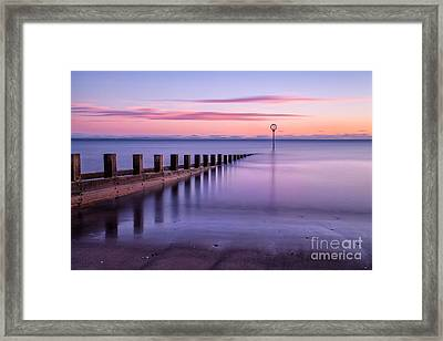 Portobello Beach Groynes Color Framed Print by John Farnan