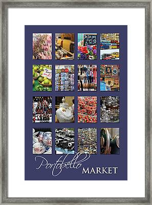Portobello Market Purple Framed Print by Heidi Hermes
