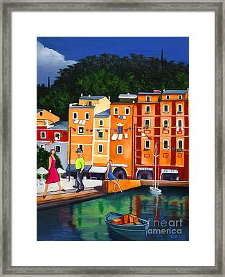 Portofino Art Print Framed Print by William Cain