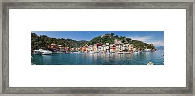 Portofino Big Panorama Framed Print by Phooey