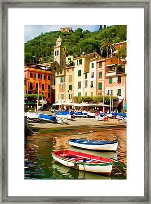 Portofino Framed Print by Cliff Wassmann