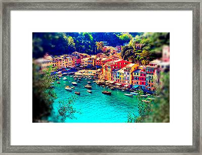Portofino Dream Framed Print by Michelle Dallocchio
