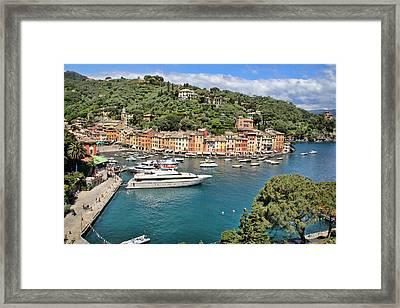 Portofino From Above Framed Print by Nancy Ingersoll