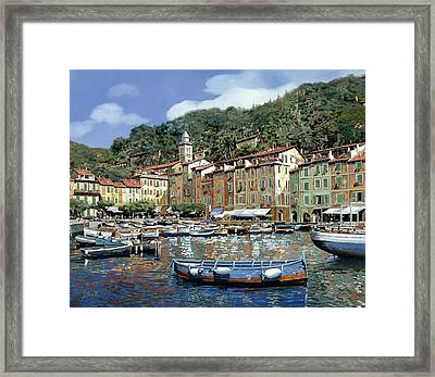Portofino Framed Print by Guido Borelli