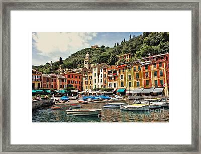 Portofino Harbor 2 Framed Print