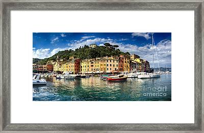 Portofino Harbor  Framed Print by George Oze