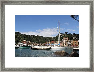 Portofino Harbor Framed Print by Nancy Ingersoll