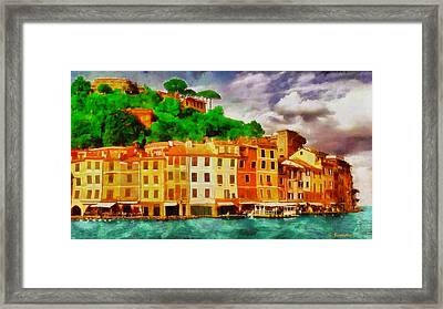 Portofino I Framed Print by George Rossidis