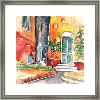 Portofino In Italy 02 Framed Print by Miki De Goodaboom