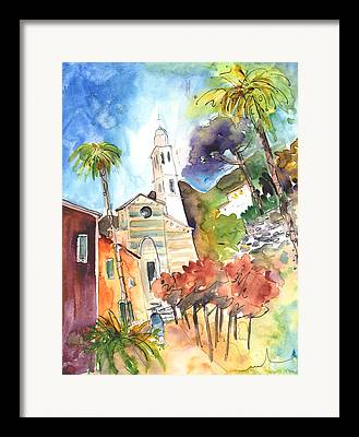 Portofino Italy Drawings Framed Prints