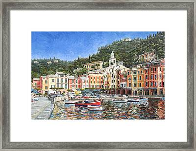 Portofino Italy Framed Print by Mike Rabe