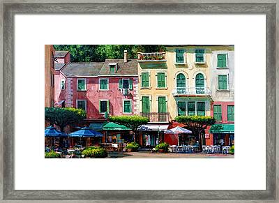 Portofino Framed Print by Michael Swanson