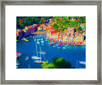 Portofino Framed Print by Michelle Dallocchio