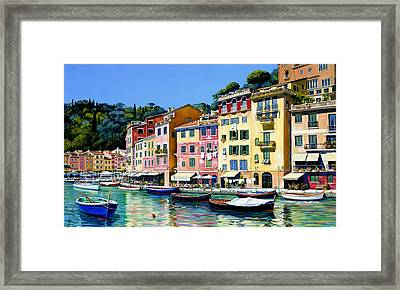 Portofino Sunshine Sold Framed Print by Michael Swanson