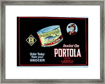 Portola  Framed Print