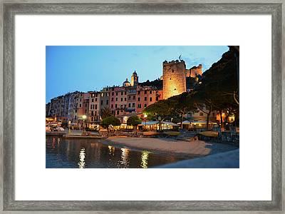 Portovenere At Night Framed Print