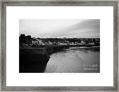 Portpatrick Village And Breakwater Scotland Uk Framed Print by Joe Fox
