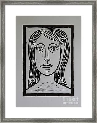 Portrait A La Picasso Framed Print