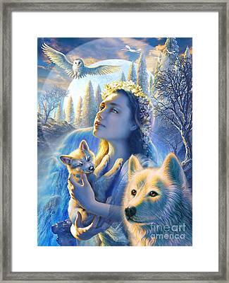 Spirit Of The Mountain Framed Print
