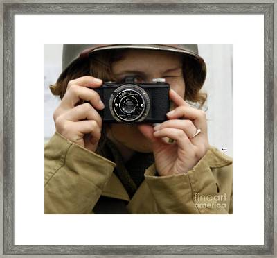 Portrait Behind The Spartus Framed Print by Steven Digman
