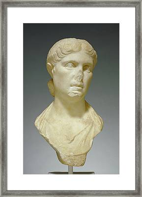 Portrait Bust Of A Woman, Possibly Octavia Minor Unknown Framed Print by Litz Collection