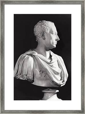 Portrait Bust Of Francis I 1708-65, Holy Roman Emperor Framed Print