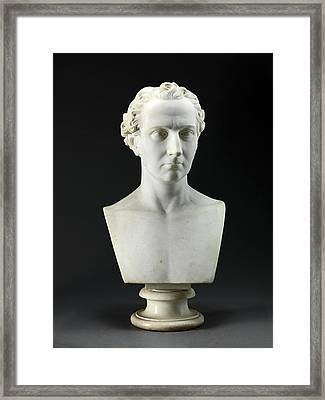 Portrait Bust Of The Artists Brother, The Sculptor John Framed Print by Litz Collection