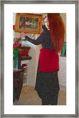 Portrait Colette Year 2010 Framed Print by Colette V Hera  Guggenheim