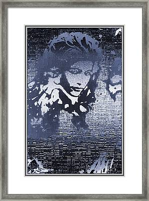 Portrait In Ice Framed Print by Mario Carini