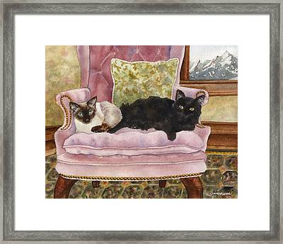 Portrait In Pink Framed Print by Anne Gifford